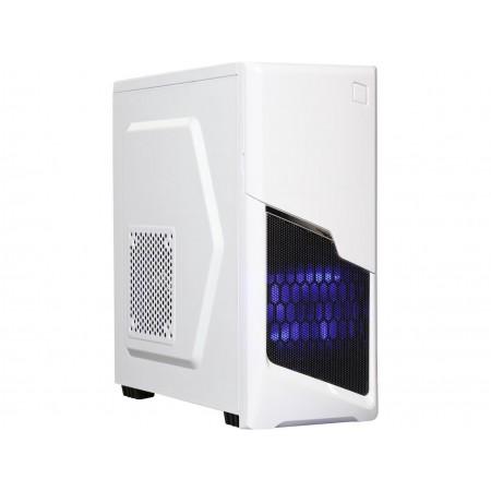 DIYPC P48-W White SECC ATX / Micro ATX Mid Tower Computer Case w/ 2 x 120mm Blue Fans